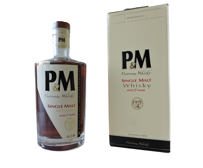 Whisky-corse 7 ans-PM---Distillerie-Maleva