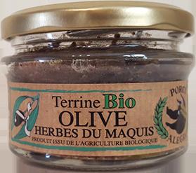 Terrine de porc aux olives et herbes du maquis