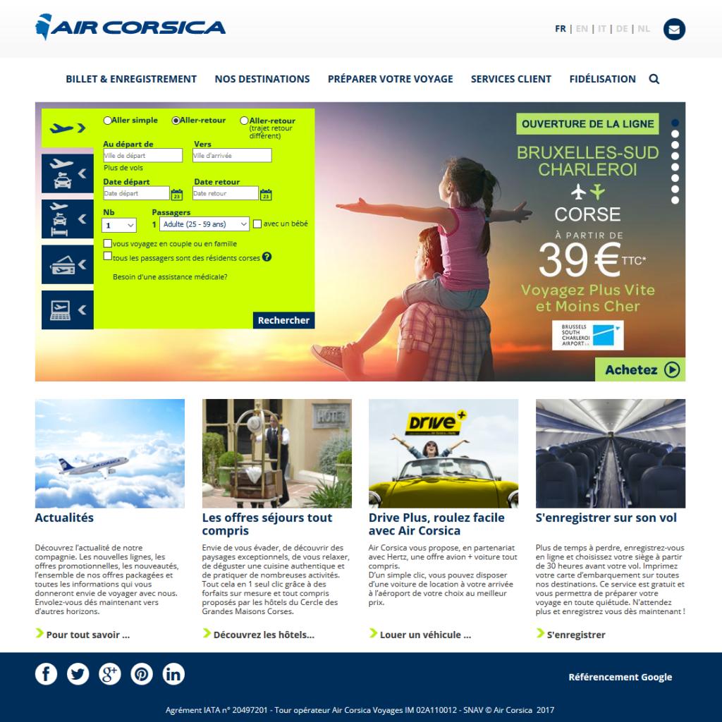 Air Corsica - Envolez vous vers la Corse
