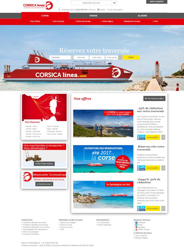 Corsica Linea - croisières vers la Corse