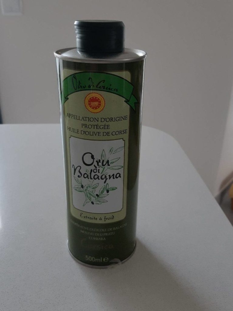 Huile d olive Oru di balagna 50cl bidon